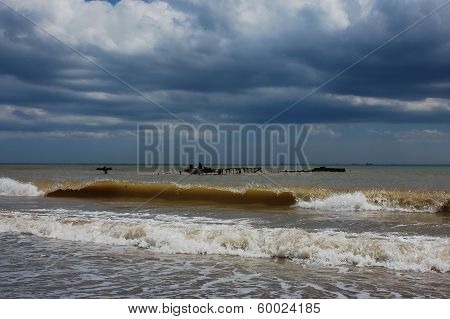 Waves of the Black sea
