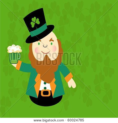 St Patrick's Day-Irish Cartoon Man
