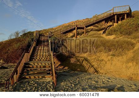 Steps from Beach to Cliff Top