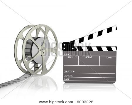 Film Reel With Clapper