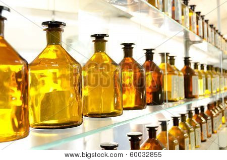 Antique Amber Medicine Bottles