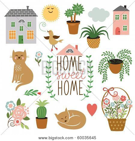 Home Sweet Home ,set of vector design elements