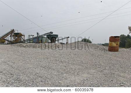 Gravel pit landscape