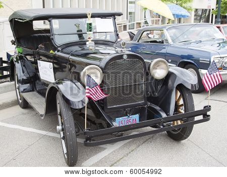 1924 Black Dodge Brothers Touring Car Side View