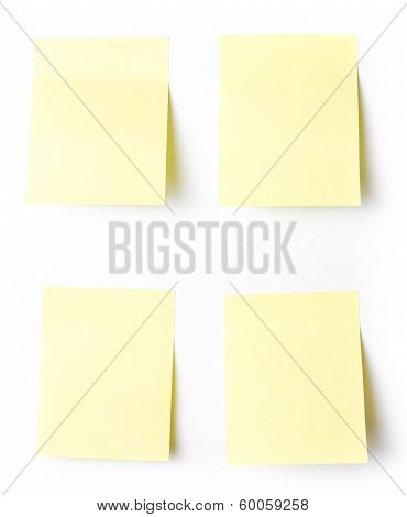 Yellow Sticky Reminder Note Waiting For Your Message. Add Your Own Text Or Design