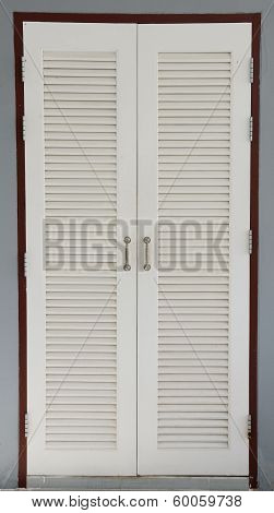 White door of storeroom