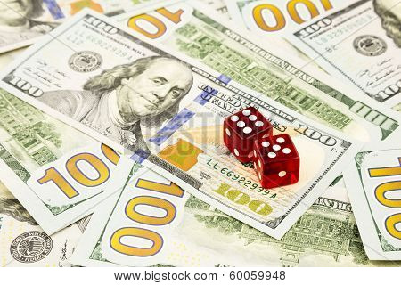 Money Cash Banknotes And Dices
