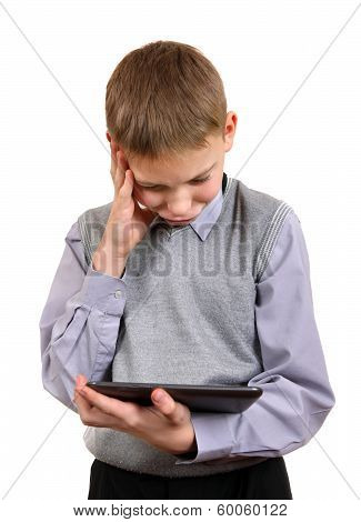 Boy With Tablet Computer