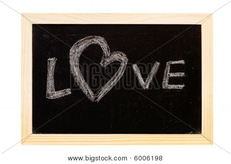 "Blackboard Written ""love"""