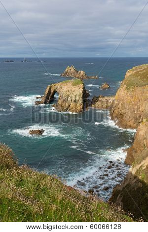 Lands End Cornwall England English tourist attraction the most westerly point of the country