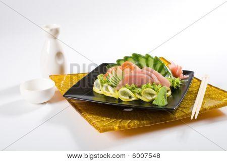 Sashimi and saki