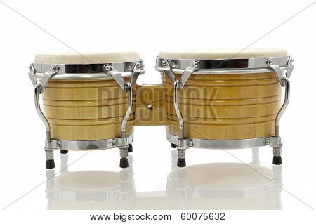 Bongo Set Isolated In White