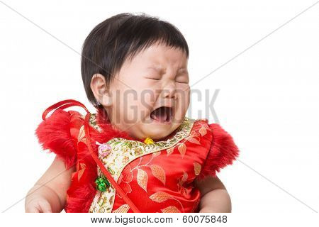 Chinese girl crying