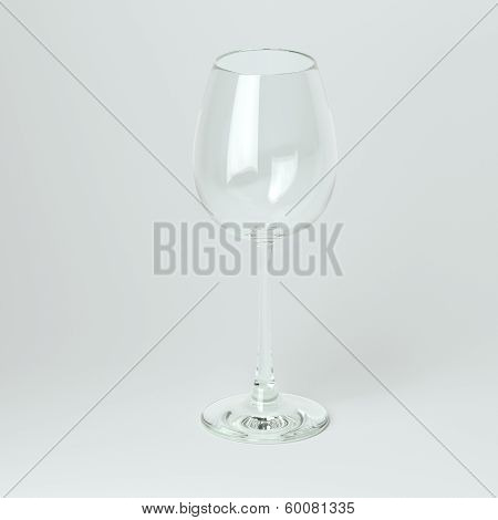 Glass Collection For Chardonnay. On White Background