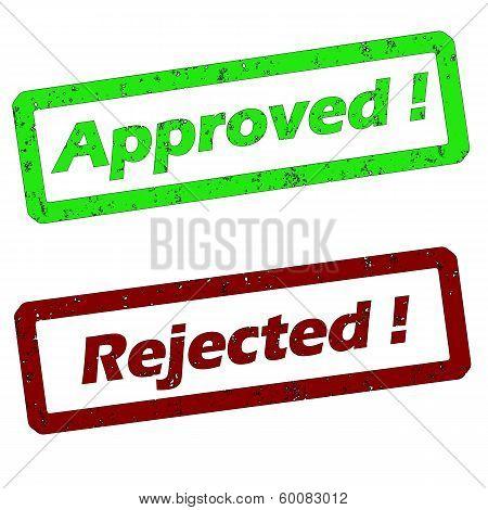 Approved Rejectet Stamp