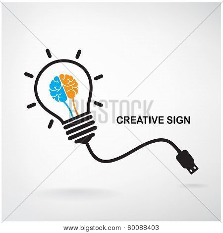 Creative Light Bulb Sign poster
