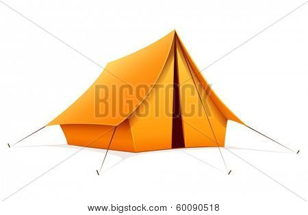 Touristic camping tent. Eps10 vector illustration. Isolated on white background