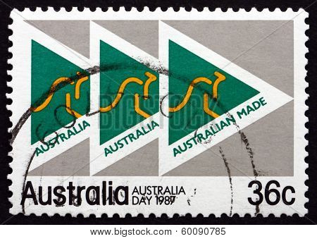 Postage Stamp Australia 1987 Made In Australia Campaign Emblem