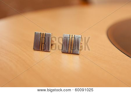 Cufflinks shirt from suit