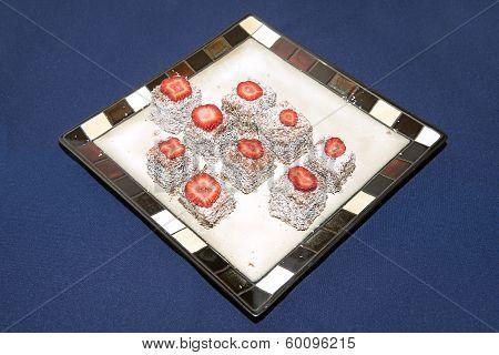 Lamington Squares On A Plate