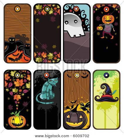 Halloween colorful tags