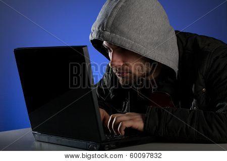 Hacker Breaking Password