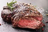 stock photo of ribeye steak  - steak - JPG