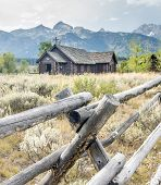pic of chapels  - Old Chapel in Grand Tetons National Park - JPG
