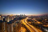 picture of kuala lumpur skyline  - Ampang Kuala Lumpur Elevated Highway AKLEH with City Skyline in Malaysia at Twilight - JPG