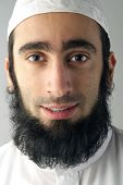stock photo of sufi  - Portrait of an Arabic Muslim man with beard - JPG