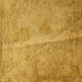 stock photo of rusty-spotted  - Rusty metal sheet with spots of coffee or tea - JPG
