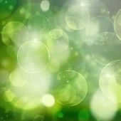 green lights on black  festive bokeh background