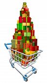 Gift Present Trolley Shopping Cart