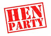 picture of hen party  - HEN PARTY red Rubber Stamp over a white background - JPG