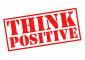 stock photo of pma  - THINK POSITIVE red Rubber Stamp over a white background - JPG