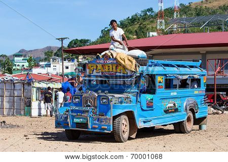 Jeepneys Passing, Philippines