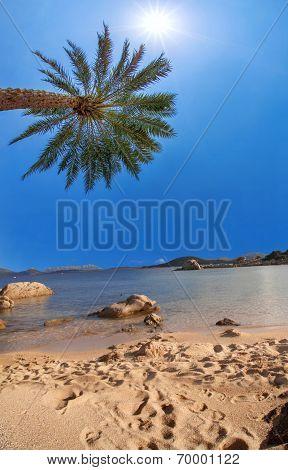 Costa Smeralda with amazing beach in Capriccioli, Sardinia