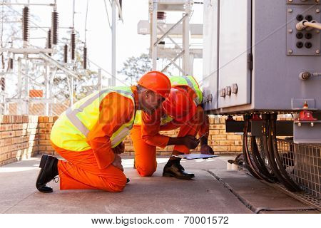 experienced electrical engineers working in substation