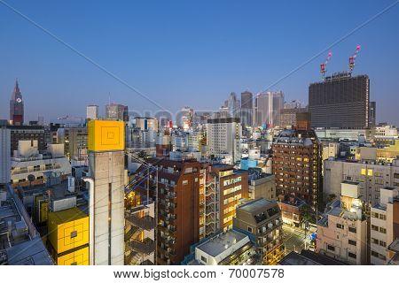 Shinjuku, Tokyo, Japan cityscape at twilight.