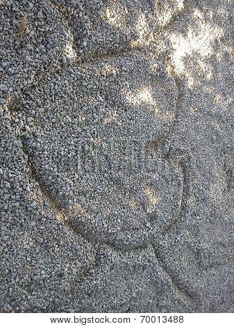 Gravel-Drawn Heart