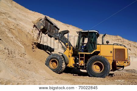Front End Loader In Sand Quarry