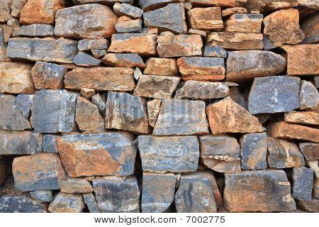 Grey Stone Wall. Texture.