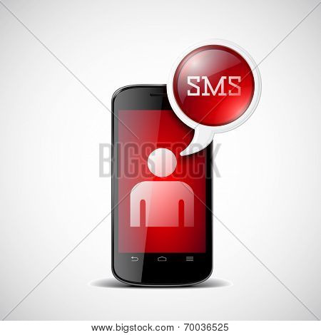 Smartphone with chat box with SMS