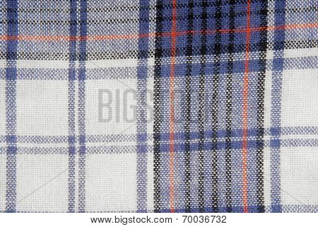 close up of the checked fabric texsture