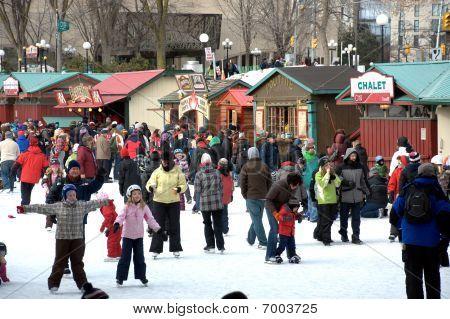 Winterlude Festival In Ottawa, Canada