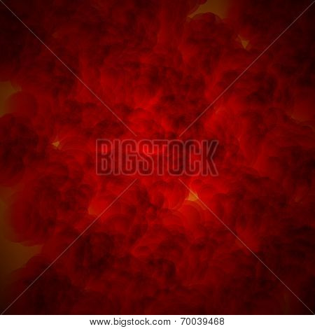 abstract red circle on dark background