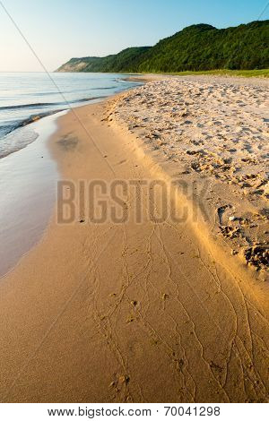 Peaceful Lake Michigan Beach