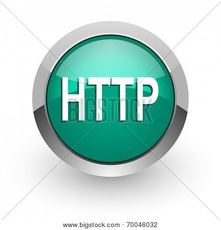 http green glossy web icon