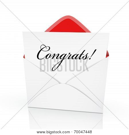 The Word Congrats On A Card