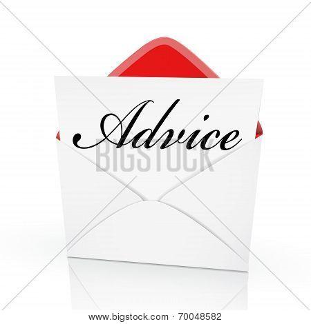 The Word Advice On A Card